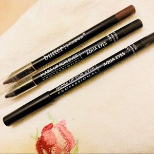 3 Brown Sephora eyeliners Makeup Forever & Butter